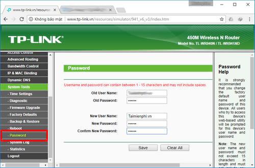 Cách đổi mật khẩu wifi TP-Link