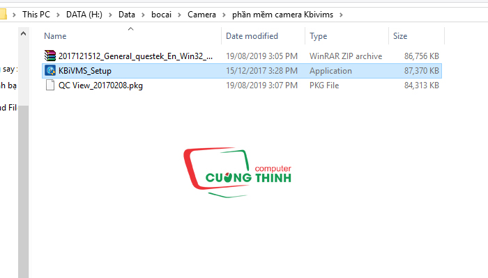 Chạy file exe