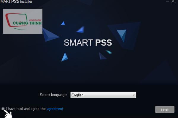 Chọn ngôn ngữ sau đó tích vào mục và chọn next