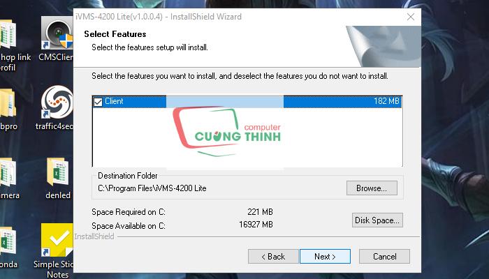 Chọn thư mục lưu File gốc sau đó chọn Next