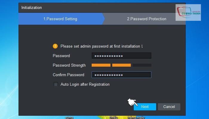 Tạo mật khẩu quản lý phần mềm
