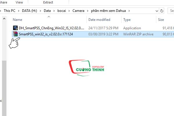 Tải File Zip về giải nén và tiến hành cài đặt phần mềm