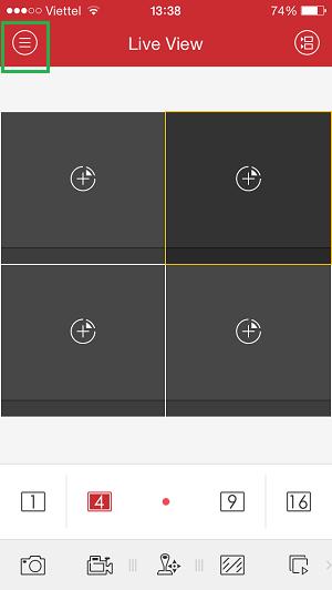 Chọn dấu 3 gạch để vào menu cài đặt