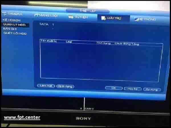 Quản lý ổ  đĩa HDD