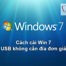 Hướng dẫn cài Win 7 Bằng USB