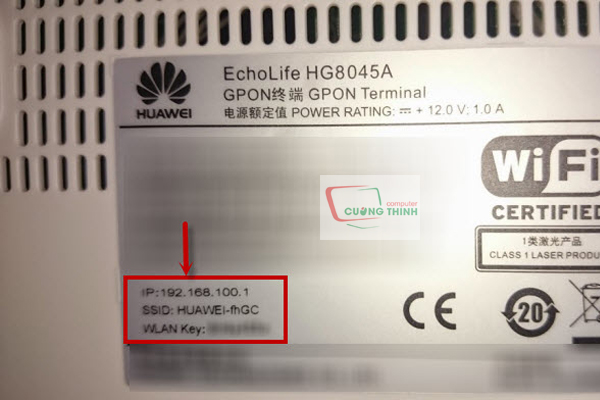 Lấy thông tin đăng nhập phía sau modem