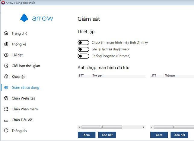 Phần mềm theo dõi màn hình máy tính Arrow