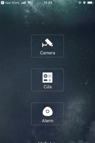 Chọn biểu tượng Camera