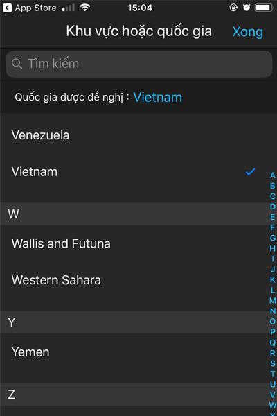Chọn ngôn ngữ Việt Nam
