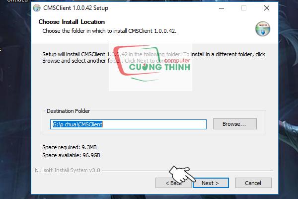 Tại đây bạn có thể chọn thư mục lưu phần mềm sau đó chọn Next
