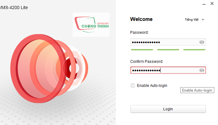 Tạo một mật khẩu mới