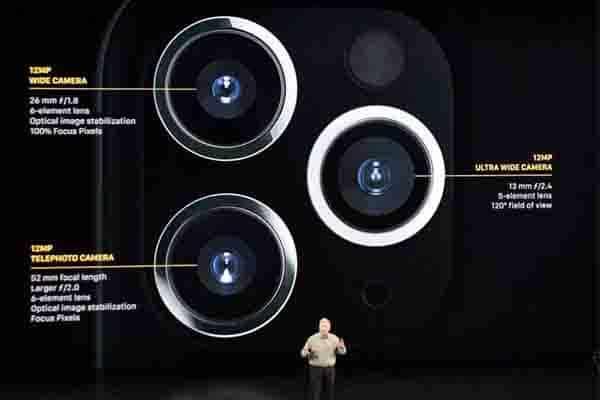Bộ 3 Camera chính của iPhone 11 Pro Max