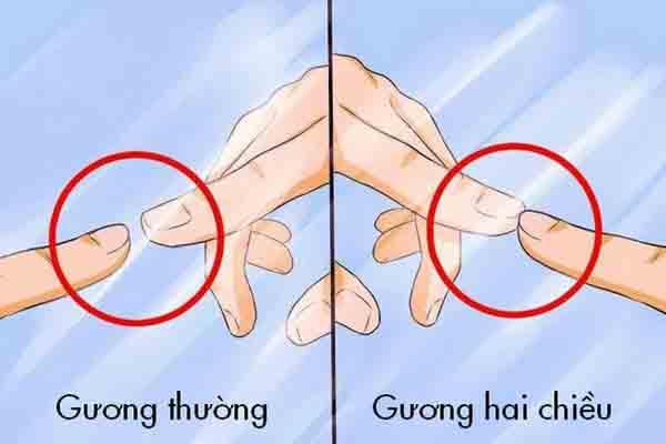 Cách phát hiện gương hai chiều