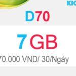 Hướng dẫn đăng ký D70 Viettel có 7GB Dcom 4G
