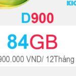 Đăng ký D900 Viettel có 84GB Dcom 4G trong 12 tháng