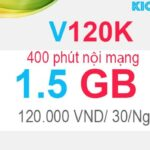 Đăng ký V120K Viettel có 1.5GB với 120K, 400 phút