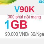 Hướng dẫn đăng ký V90K Viettel có 1GB với 90K, 300 phút