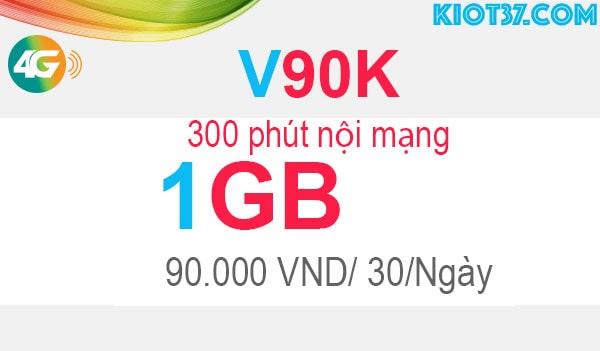 đăng ký V90K Viettel