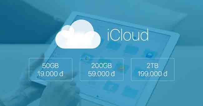 Các gói iCloud bán hiện nay