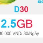 Cách đăng ký D30 Viettel có 2.5GB Dcom 3G 2020