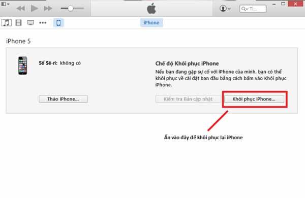 Khôi phục iPhone