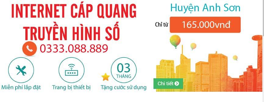 Lắp mạng Viettel cáp quang Huyện Anh Sơn