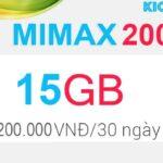 Đăng ký MIMAX200 Viettel có 15GB data 4G chỉ 200k