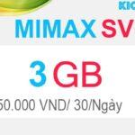 Đăng ký MIMAXSV Viettel có 3GB với 50KMiễn phí data 1 tháng