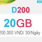 Đăng ký D200 Viettel có 20GB Dcom 4G trong 1 tháng