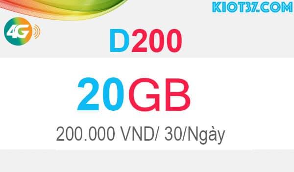 đăng ký D200 Viettel