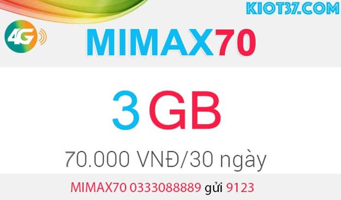Đăng ký MIMAX70 Viettel