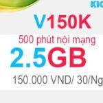 Cách đăng ký V150K Viettel có 2.5GB với 150K, 500 phút