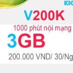 Hướng dẫn đăng ký V200K Viettel có 3.5GB với 200K, 1000 phút