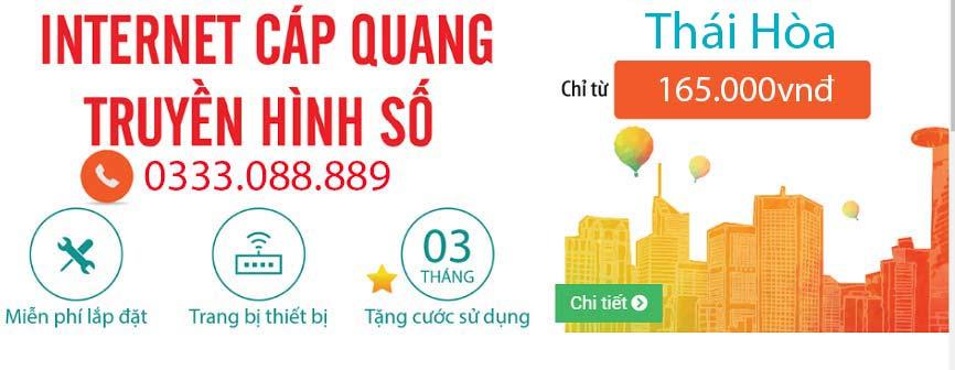 Lắp đặt mạng VIETTEL tại Thị xã Thái Hoà