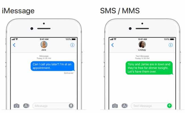 phân biệt giữa tin nhắn văn bản và tin nhắn iMessage