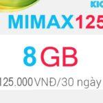 Đăng ký MIMAX125 Viettel có 8GB data 4G chỉ 125k/tháng