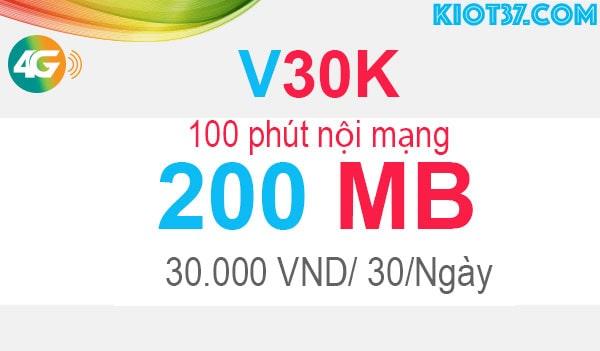 đăng ký V30K Viettel