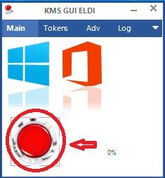 bạn click vào nút màu đỏ để kích hoạt Windows hoặc Office