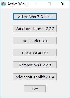 lựa chọn 1 trong số các tool để active Win 7