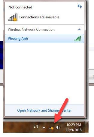 Kết quả bạn đã có thể kết nối internet được rồi, hoặc nếu là laptop có mạng wifi thì sẽ hiện vạch