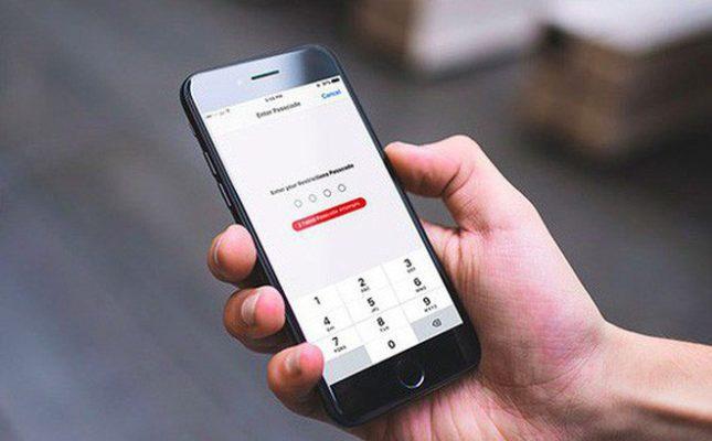 Quên mật khẩu giới hạn của iPhone