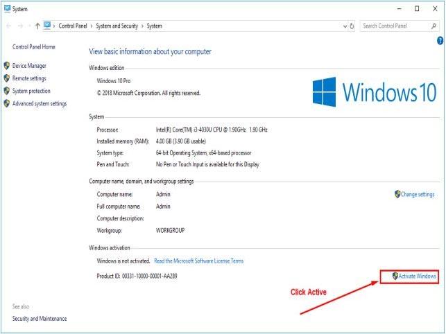 Tại đây các bạn tiến hành chọn vào nút Activate Windows.