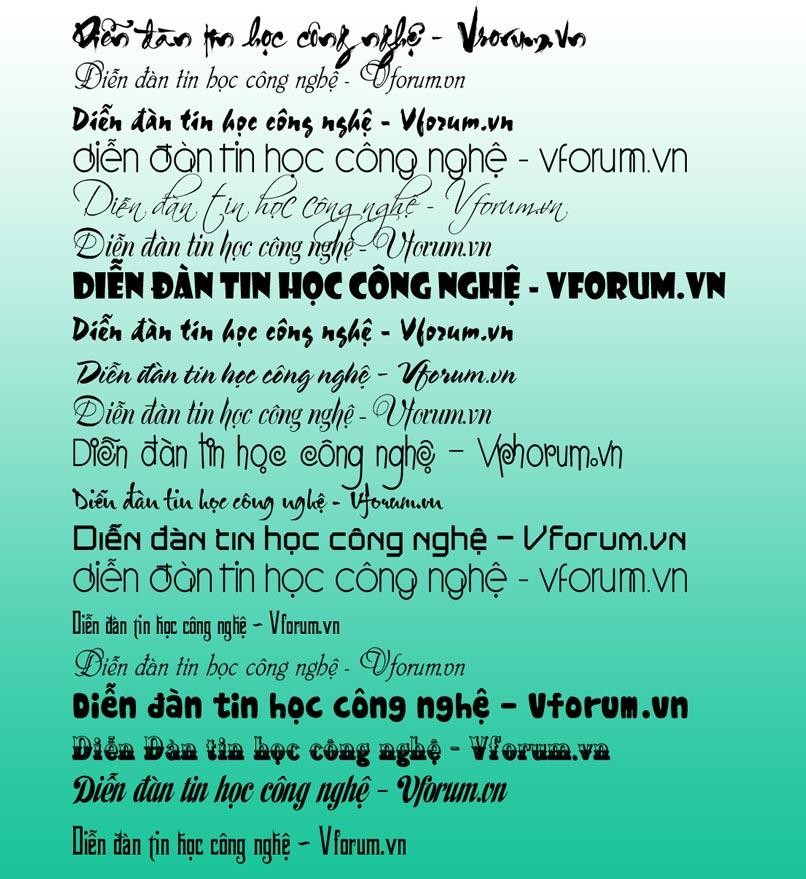 Bạn có thể tự do lựa chọn font chữ UTM phù hợp với tác phẩm của mình