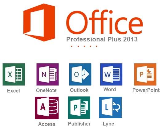 Bộ Office 2013 gồm các công cụ