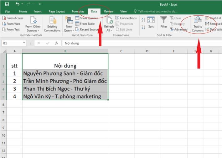 Cách chia cột trong Excel đơn giản nhất