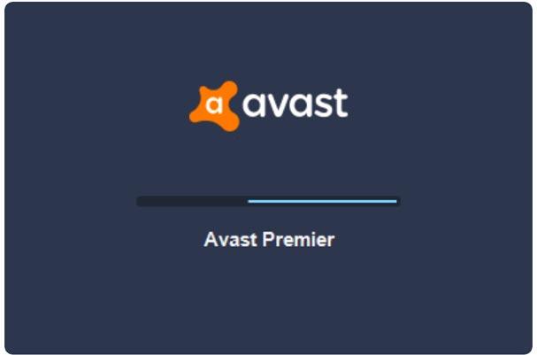 Chờ quá trình tải Avast Premier