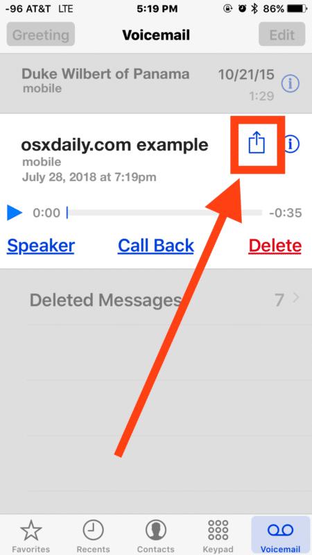 File ghi âm cuộc gọi sẽ xuất hiện trong mục Voicemail