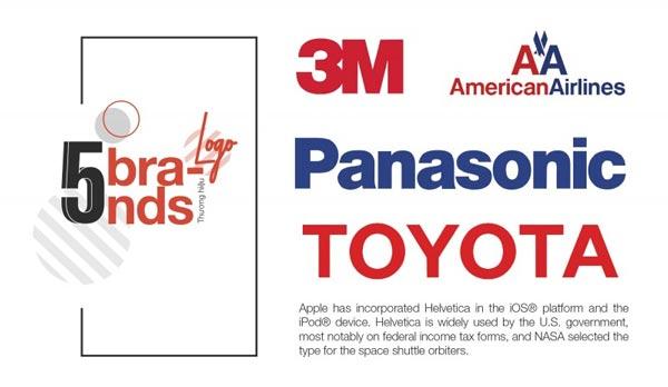 Font Helvetica thể hiện logo cho các thương hiệu lớn