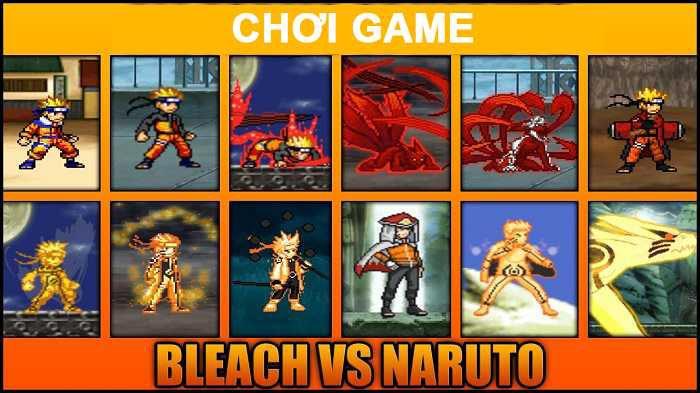 Game Bleach vs naruto hot nhất hiện nay