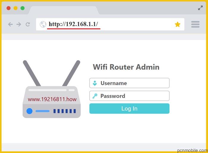 Giao diện đăng nhập truy cập IP 192.168.1.1